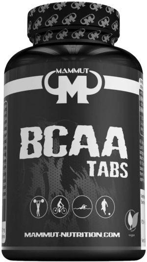 Mammut Nutrition BCAA Kapseln in einer schwarzen Dose