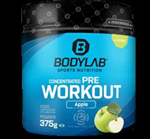 Bodylab24 Pre Workout Booster im Geschmack Apfel