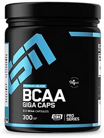 BCAA Kapseln von ESN in einer schwarzen BCAA Dose