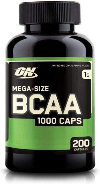 BCAA Kapseln von Optimum Nutrition in einer BCAA Dose