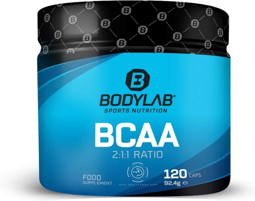 Bodylab24 BCAA Kapseln in einer blauen Dose
