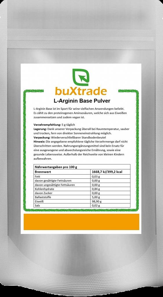 buXtrade L-Arginin Test & Vergleich